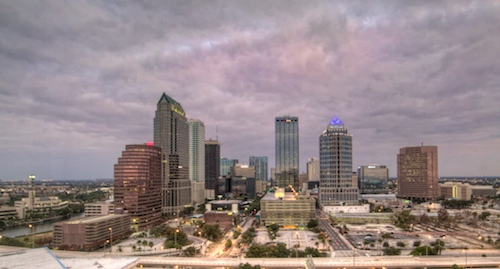 Tampa Skyline - Copyright Scott Bourne 2010 - All Rights Reserved