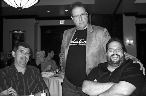 Mr. Kelby (Center) Pretending To Be Stern - Copyright Scott Bourne 2011 - All Rights Reserved