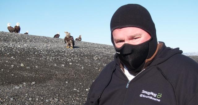 Yep that's me - And yep it's cold!