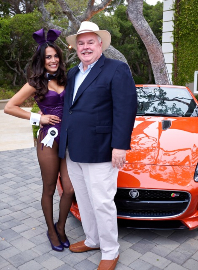Raquel Pomplun - the 2013 Playboy Playmate of the year and me - in front of a Jaguar F-Type. Yes it was a good night. She's a very nice young woman who shares my love of Jaguars.