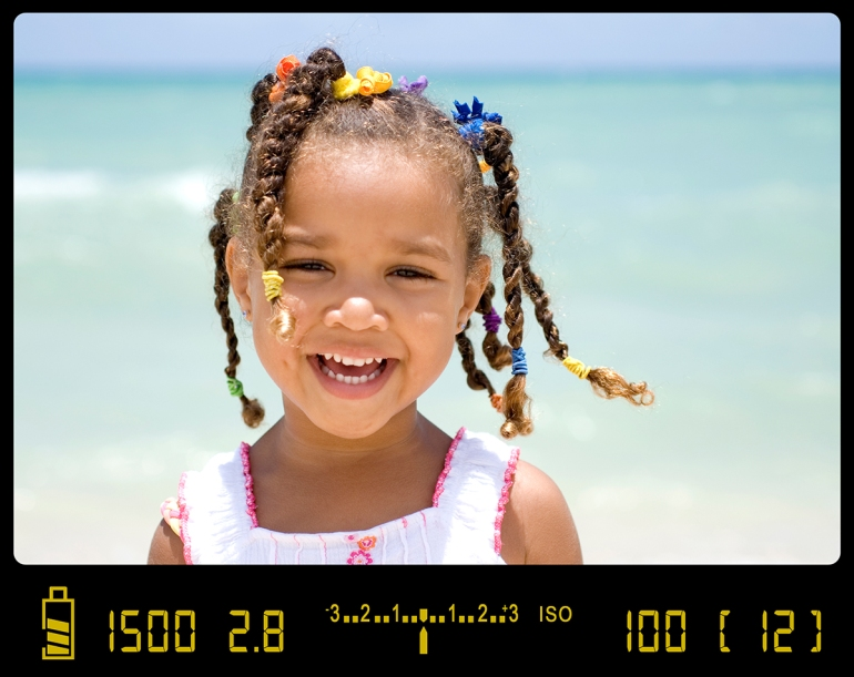 This in-camera view shows the meter balanced at zero.When photographing in Aperture priority, the camera will always try to bring the meter dead-center, just like in this photograph.