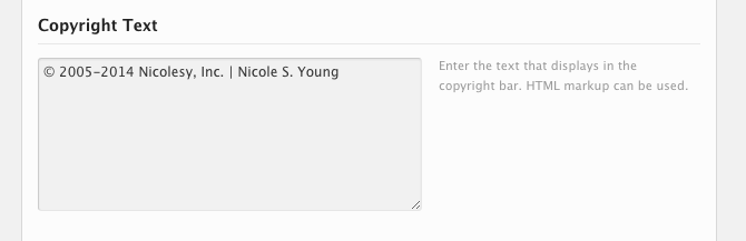 Blog copyright info