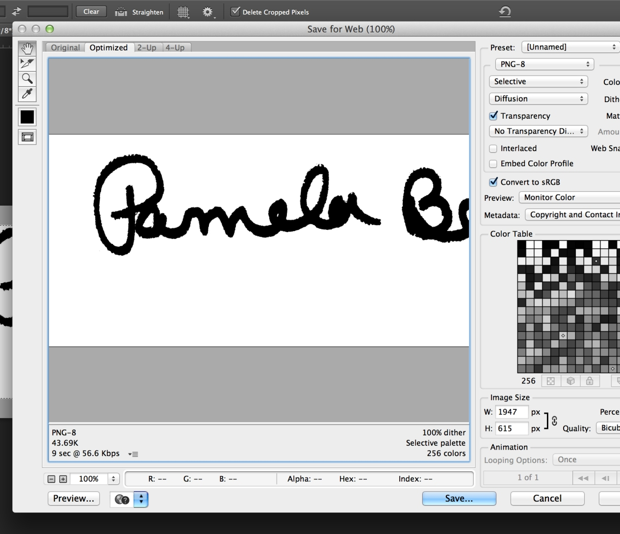 how to draw my signature in photoshop