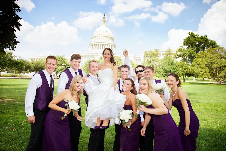 US Capitol wedding party