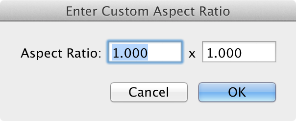 Custom Ratio