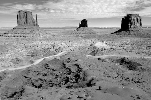 Monument Valley Black & White - Photo Copyright Scott Bourne - Shot With Fuji X100T
