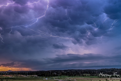 Sunset Storm by Murray Fox